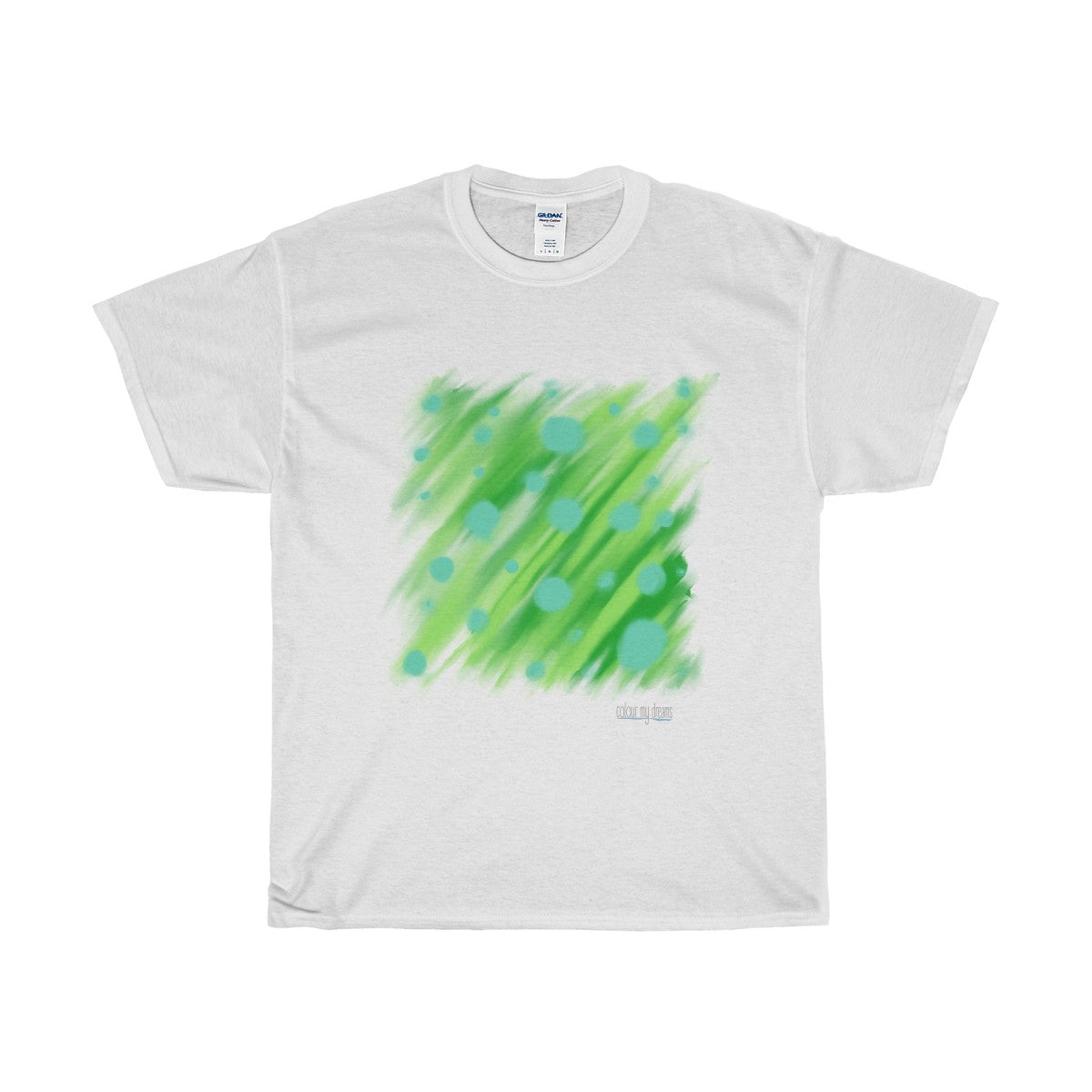 Men's Heavy Cotton T-Shirt - Abstract Green