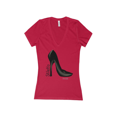 Women's V-Neck T-Shirt - Stiletto - Sample