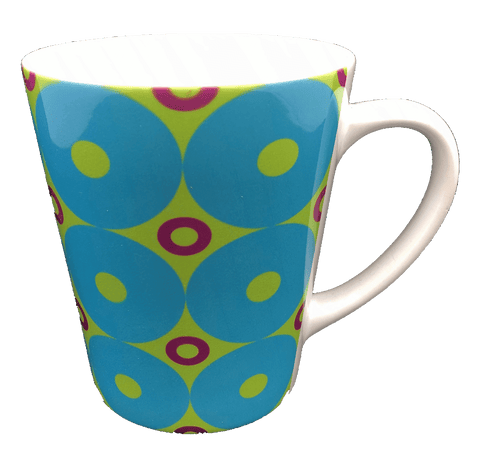 Latte Mug - Donuts - Blue, Green, Purple