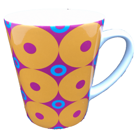 Latte Mug - Donuts - Yellow, Pink, Blue