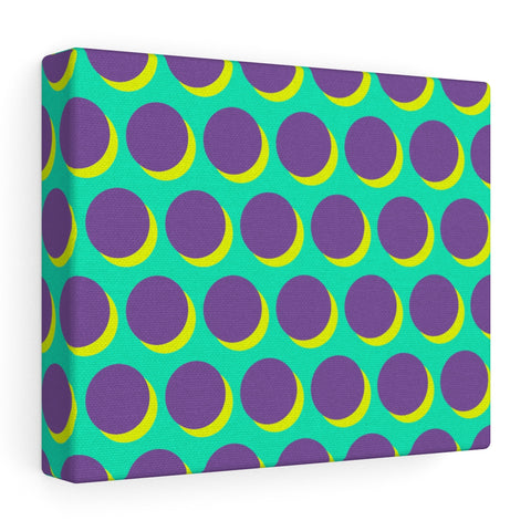 Canvas - Shadow Dots - Purple Yellow