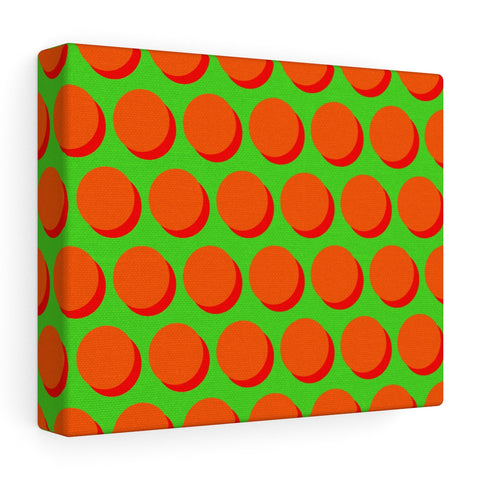 Canvas - Shadow Dots - Orange Red