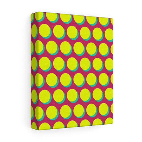 Canvas - Shadow Dots - Yellow Green