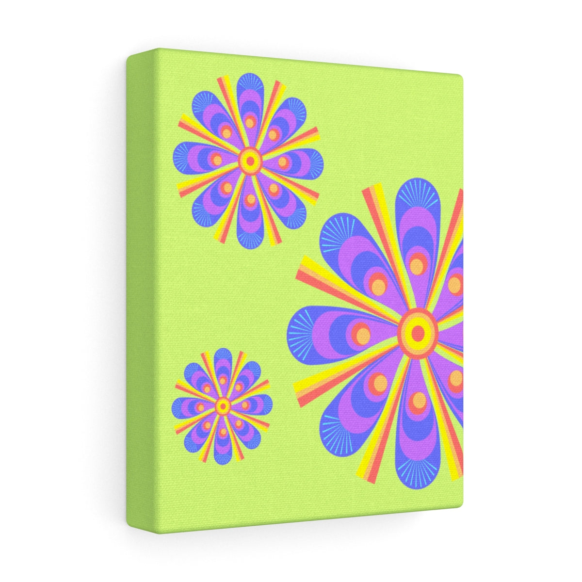 Canvas - Retro Flowers - Peacock
