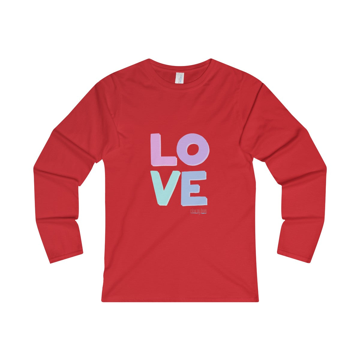 Women's' Long Sleeve T-Shirt - Pastel Love