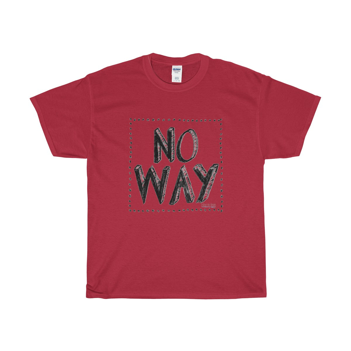 Men's Heavy Cotton T-Shirt - No Way