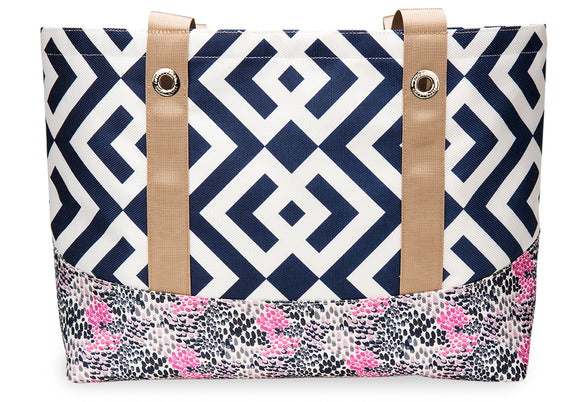 Brooke Navy Classic Tote