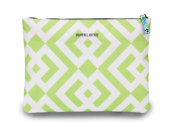 Brooke Green Color Block Clutch