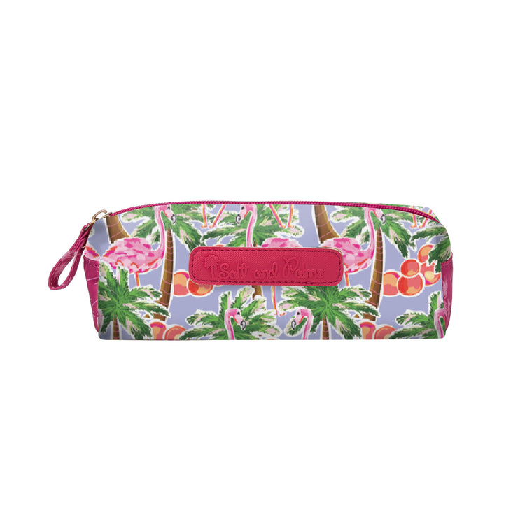 Salt & Palms Cosmetic Case - Flamingos