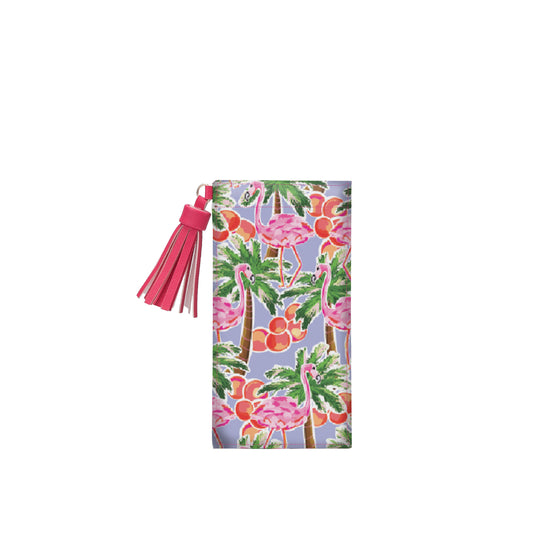 Salt & Palms Sunglass Case - Flamingos