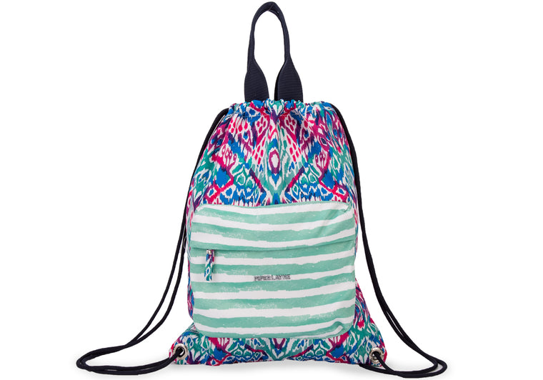 Heather Drawstring Backpack