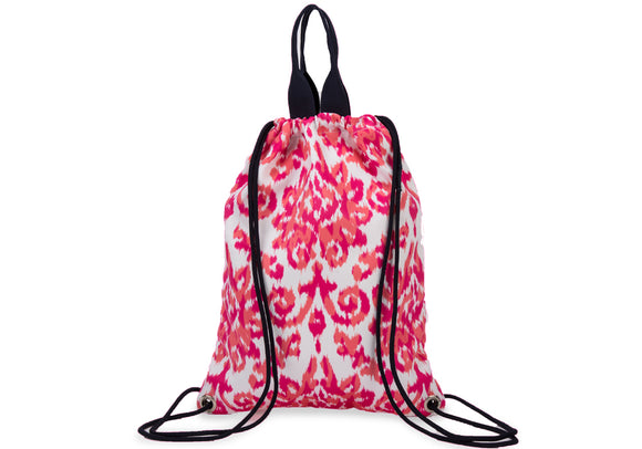 India Pink Drawstring Backpack