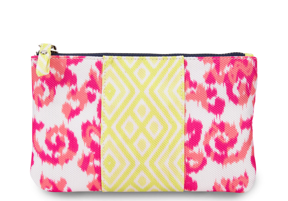 India Pink Mini Color Block Clutch