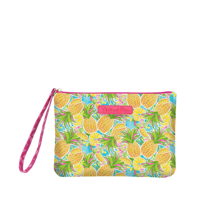 Salt & Palms Cosmetic Clutch - Pineapples