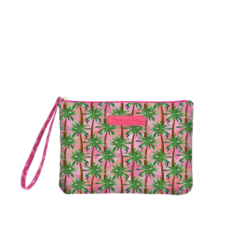 Salt & Palms Cosmetic Clutch - Sunset (Palm Trees)