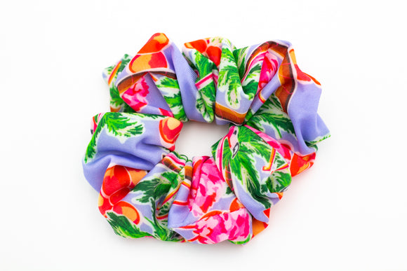 Salt & Palms Jumbo Hair Scrunchie - Flamingos