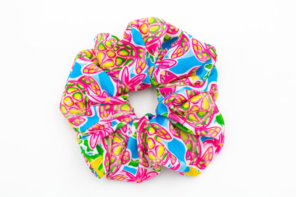 Salt & Palms Jumbo Hair Scrunchie - Sea Turtles