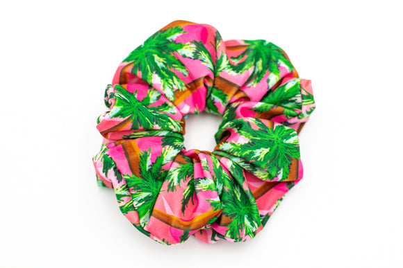 Salt & Palms Jumbo Hair Scrunchie - Sunset (Palm Trees)
