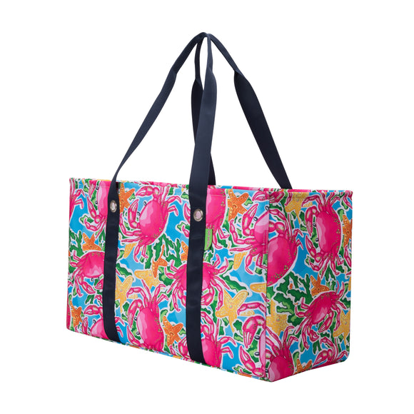Salt & Palms Utility Tote - Crabs