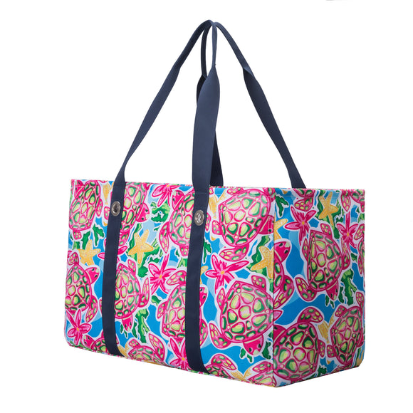 Salt & Palms Utility Tote - Sea Turtles