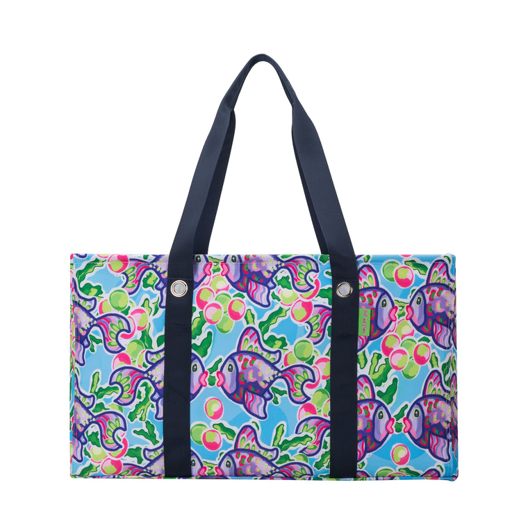 Salt & Palms Utility Tote - Blow Fish