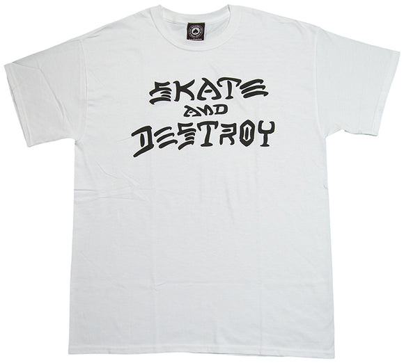 Thrasher - Skate & Destroy Tee | White