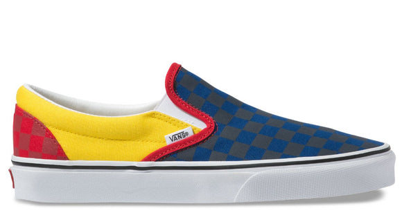 Vans - Classic Slip-On Shoes | Navy Yellow Red (OTW Rally)