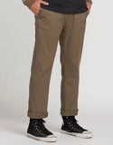 Volcom - Frickin Modern Stretch Chino Pants | Mushroom