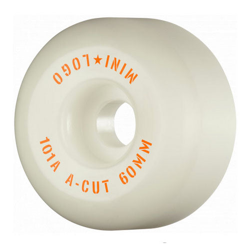 Mini Logo - A-Cut 60mm 101a Wheels | White