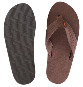 Rainbow - Men's Single Layer Hemp Sandals | Brown
