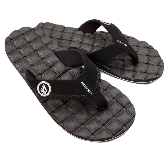 Volcom - Recliner Sandals | Black White