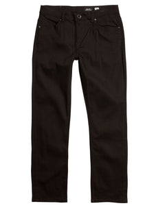 Volcom - Solver Modern Fit Jeans | Black on Black