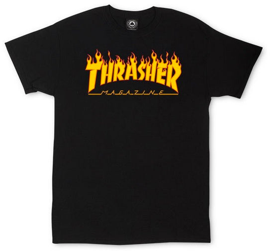 Thrasher - Flame Tee | Black