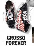 Vans - Skate Sk8-Hi Reissue '84 Shoes | Black Red Check (Grosso)