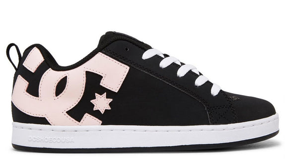 DC - Court Graffik Shoes | Black Super Pink