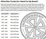 "Independent - 144 Standard 8.25"" Trucks (Set of 2)"
