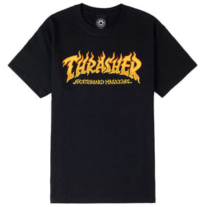 Thrasher - Fire Logo Tee | Black