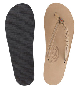 Rainbow - Women's Single Layer Leather Sandals | Sierra (Narrow Braid)
