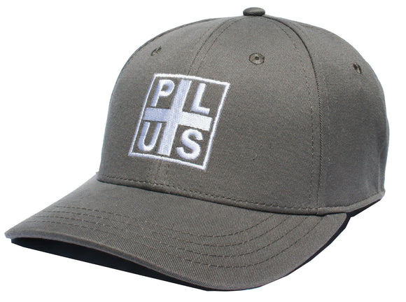Plus - Block Twill Snapback Hat | Grey