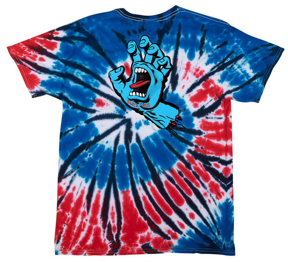 Santa Cruz - Screaming Hand Tee | Independence Tie-Dye