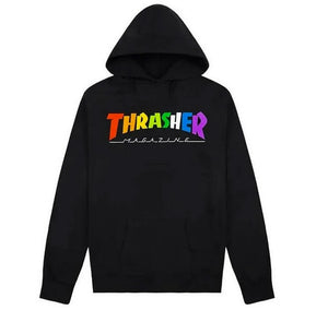 Thrasher - Rainbow Logo Hood | Black