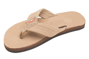 Rainbow - Kid's Single Layer Leather Sandals | Sierra