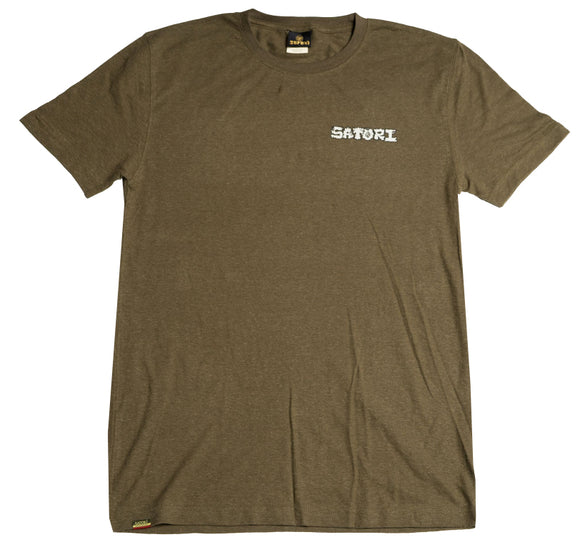 Satori - Bigfoot Meditate Hemp Tee | Olive