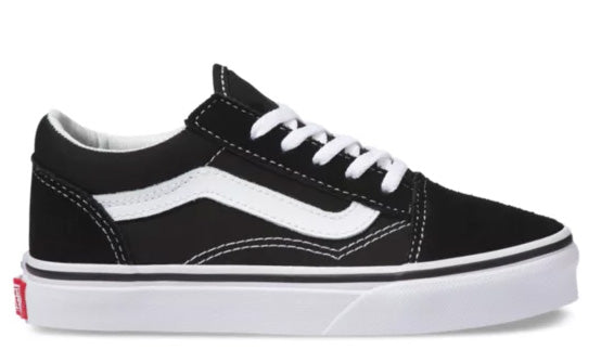Vans - Kids Old Skool Shoes | Black White