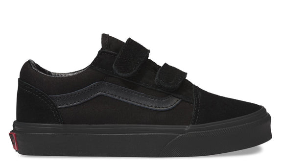 Vans - Kids Old Skool V Shoes | Black Black