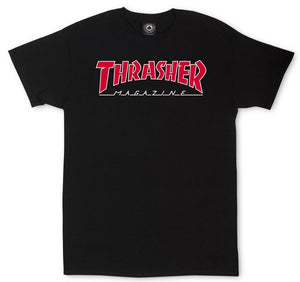Thrasher - Outlined Tee | Black Red