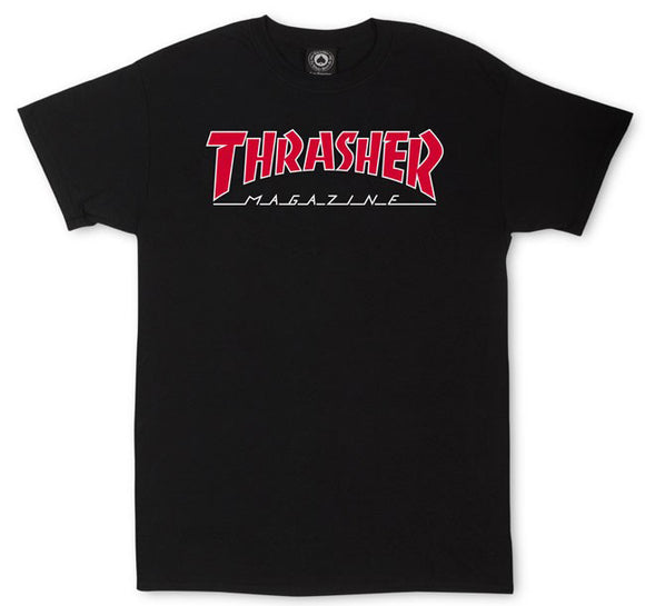 Thrasher - Outlined Tee | Black