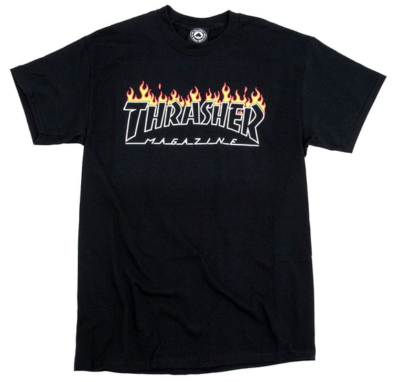 Thrasher - Scorched Outline Tee | Black