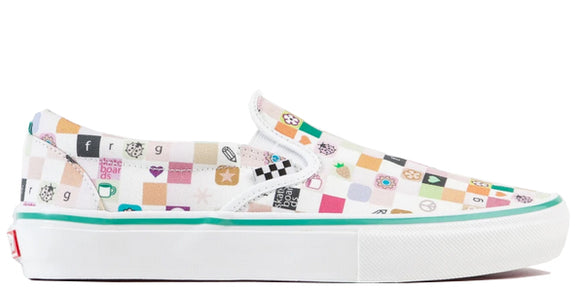 Vans - Infant Slip-On V Crib Shoes | Iridescent Checkerboard