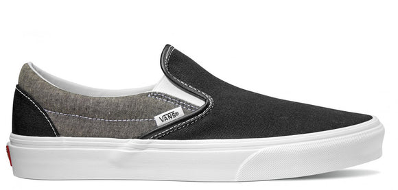 Vans - Classic Slip-On Shoes | Canvas Black (Chambray)